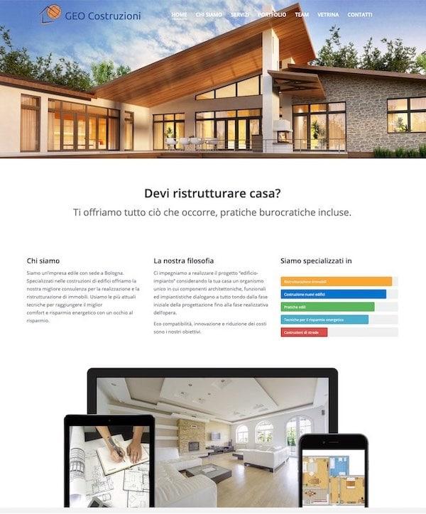 Siti Web per aziende edili