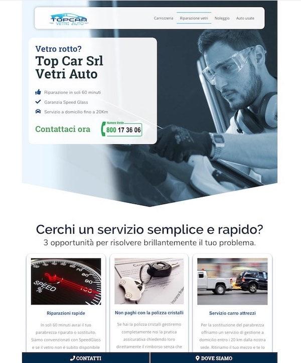 Siti Web per aziende di riparazione vetri auto