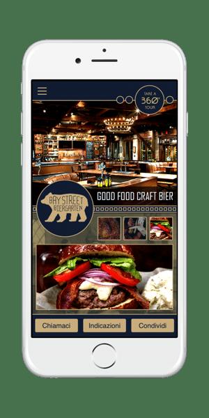 Applicazione mobile pub e ristoranti iOS