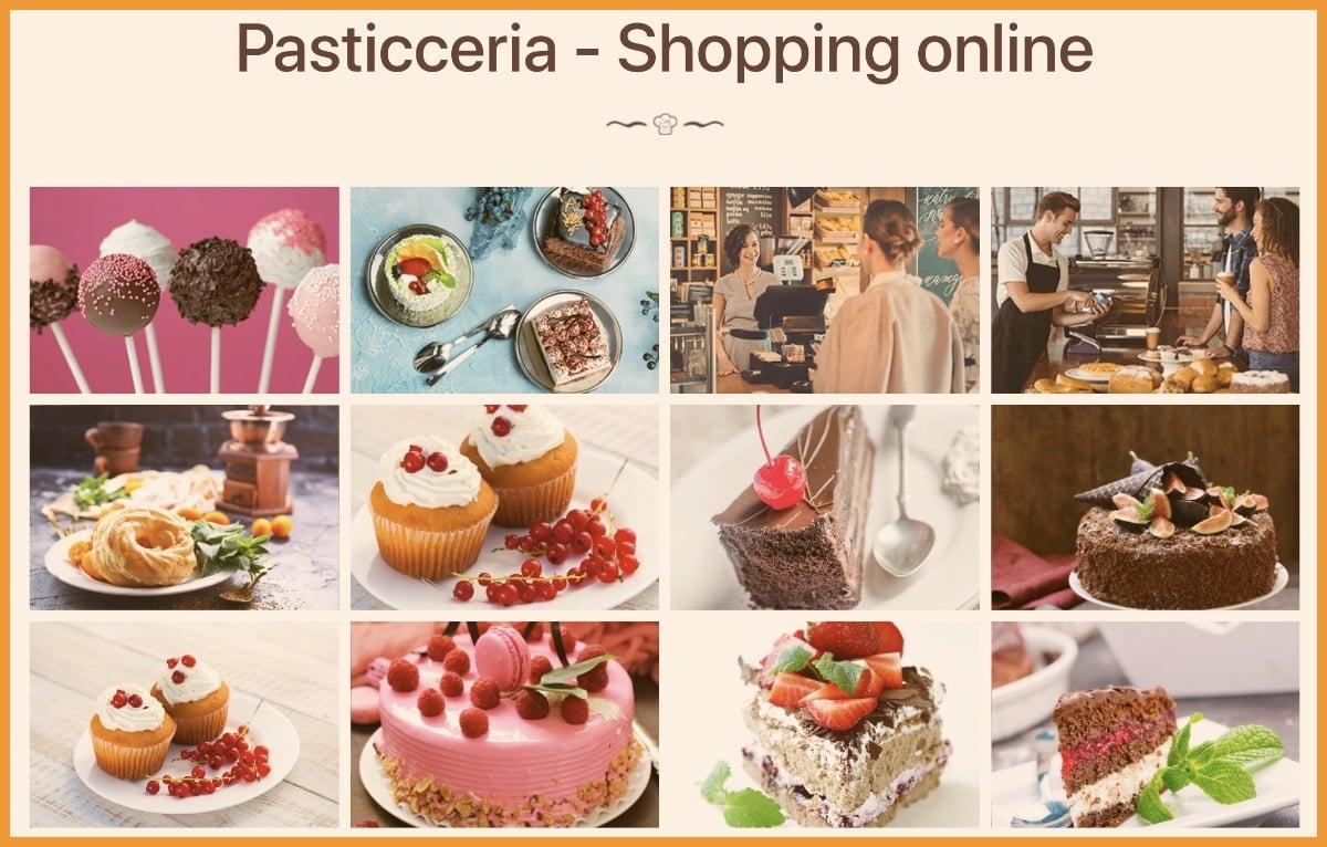 Ecommerce + App pasticceria shopping