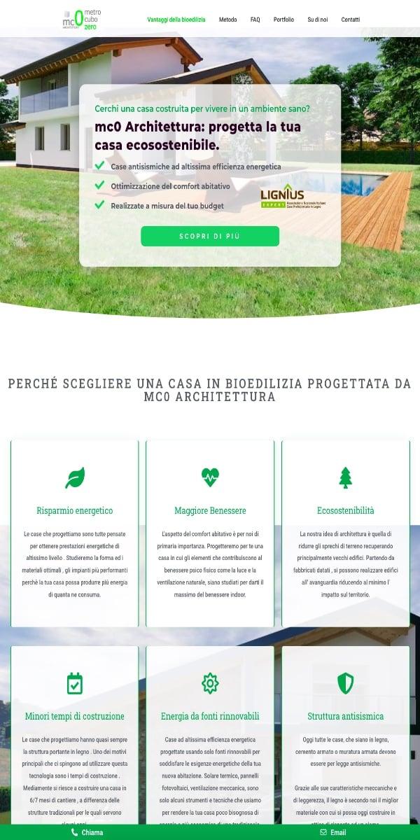 Sito Web premium architettura