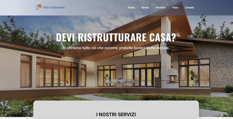 Sito web per imprese edili